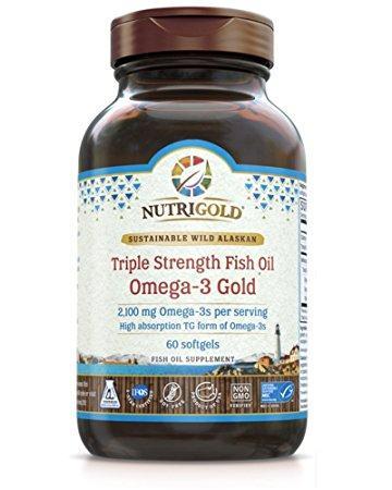 NutriGold Triple Strength Fish Oil Omega-3 Gold