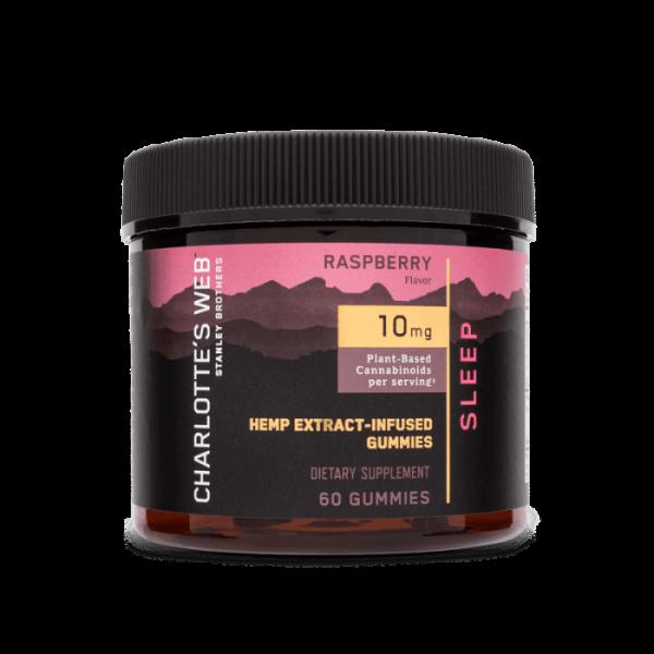 Charlotte's Web Sleep CBD Gummies Sleep. Hemp Extract-infused gummies have 10mg of CBD per Raspberry flavored serving