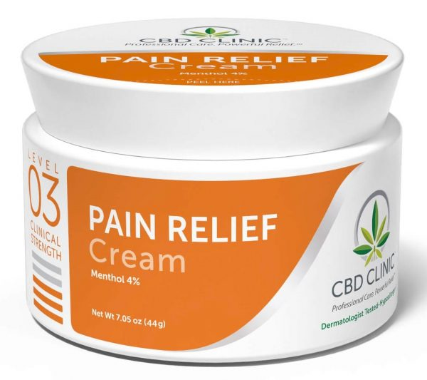 CBD Clinic Level 3 Clinical Strength - Moderate with 4% Menthol - Revolutionary Pain Relief for arthritis, joint pain, muscle pain, doctor recommended
