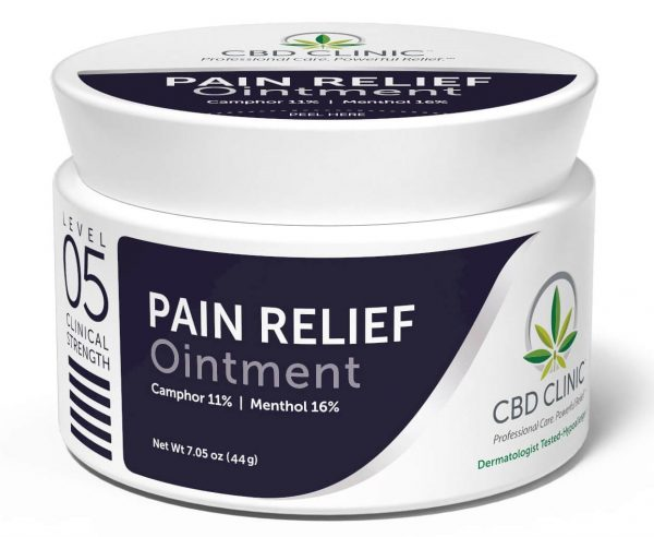 CBD Clinic Level 5 Clinical Strength - Pro-Sport with 16% Menthol, 11% Camphor - Revolutionary Pain Relief for arthritis, joint pain, muscle pain, doctor recommended