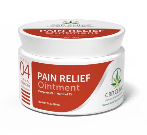 CBD CLINIC™ Level 4 200g jar. Pain Relief Ointment