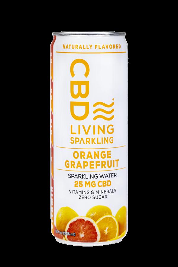 CBD Living Orange Grapefruit Sparkling Water