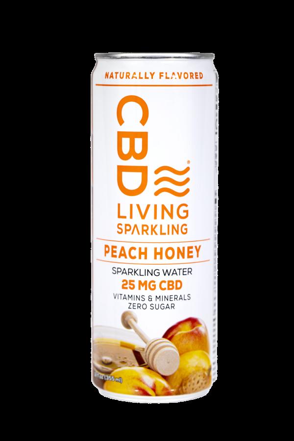 CBD Living Peach Honey Sparkling Water
