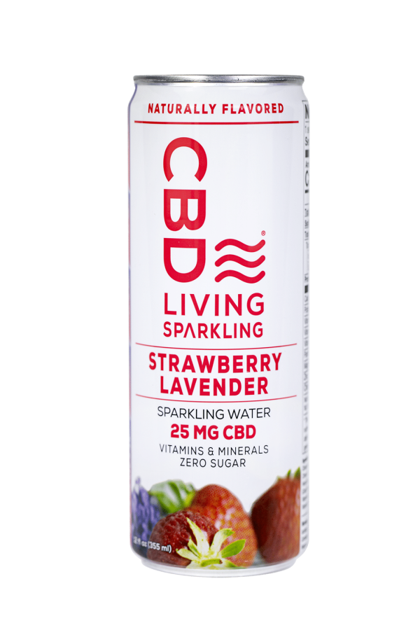 CBD Living Strawberry Lavender Sparkling Water